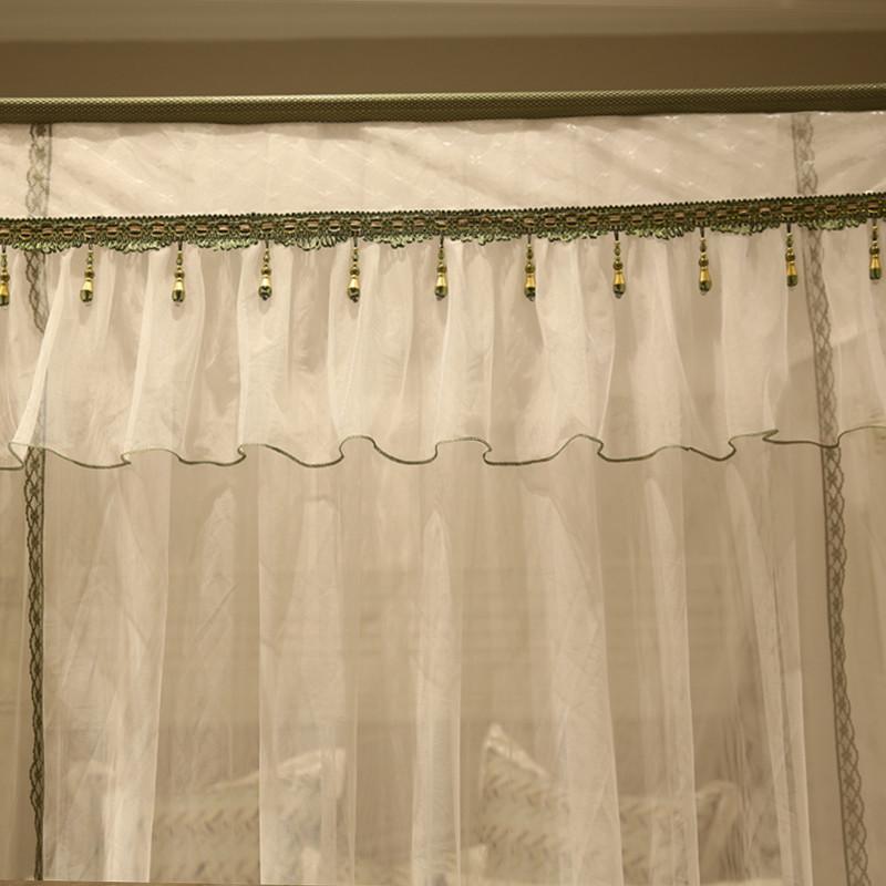 蚊帐三开门1.8m床双人家用1.5m床宫廷公主风落地加密加厚烤漆支架
