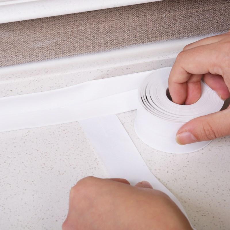 墙壁粘条厕所门条洗手池墙贴贴窗美缝贴瓷砖防水橱房抽屉加宽美化