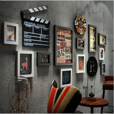 客厅装饰画工业风理发店装饰挂画复古沙发背景墙壁画美式组合画评测