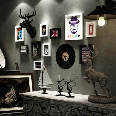 服裝店裝飾畫創意客廳墻壁掛畫個性理發店壁畫沙發背景墻復古墻畫官方旗艦店
