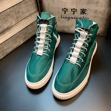 Social lads'high-top shoes in autumn new style men's shoes Korean fashion board shoes, white shoes, cloth shoes, leisure fashion shoes
