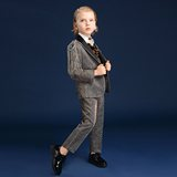 Inmyopinion 2019 new personality gold children's dress boy catwalk suit piano costume