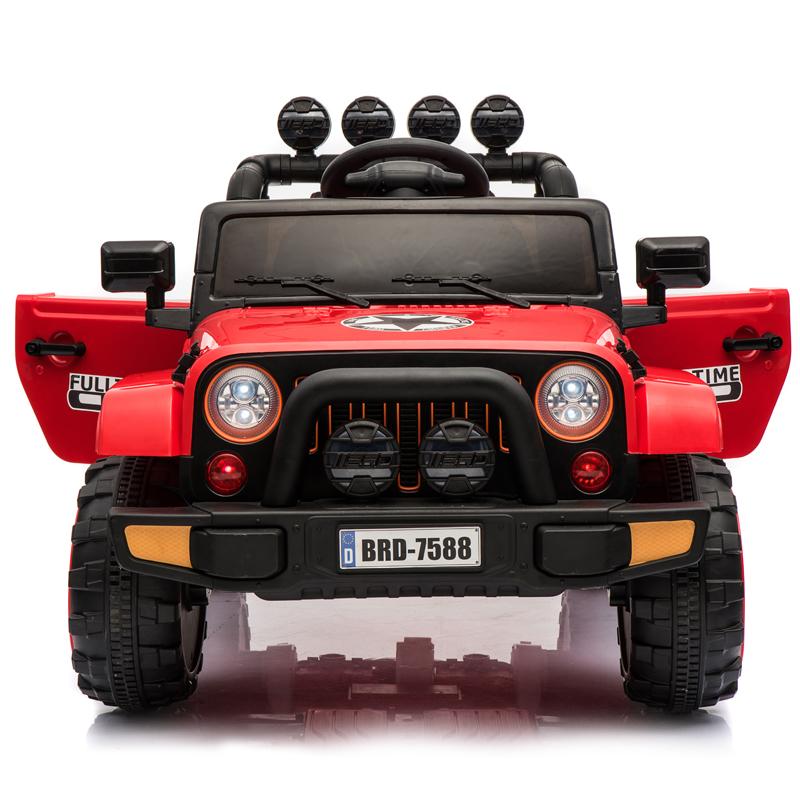 儿童 电动 汽 车 四轮 越野带遥控充电摇摆车玩具宝宝可坐人1-3岁