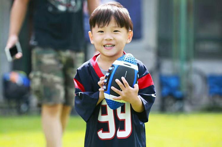 橄榄球美式足球比赛成人9号青年7少年5/6号儿童3号腰旗粉色橄榄球