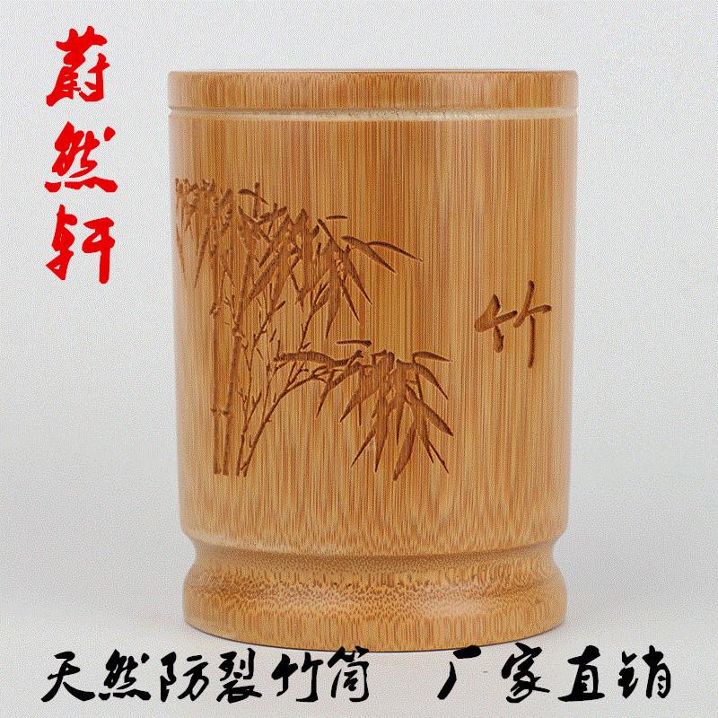 厂家直销竹子笔筒天然全雕竹制工艺实用书法用品支持
