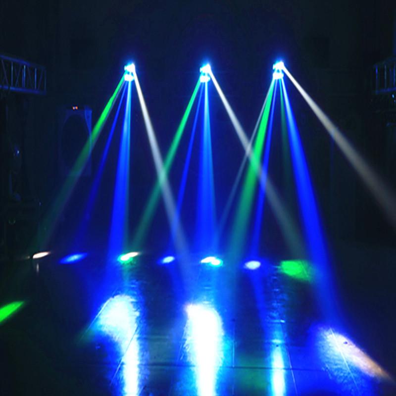 韩国舞台灯光 镭射激光灯闪光舞厅酒吧光束声控迷你LED蜘蛛灯 KTV