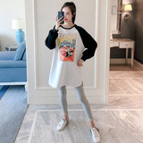 Pregnant women sweater fashion models cotton loose 3-9 months pregnant pregnant mother Korean version of the long section long-sleeved T-shirt tops