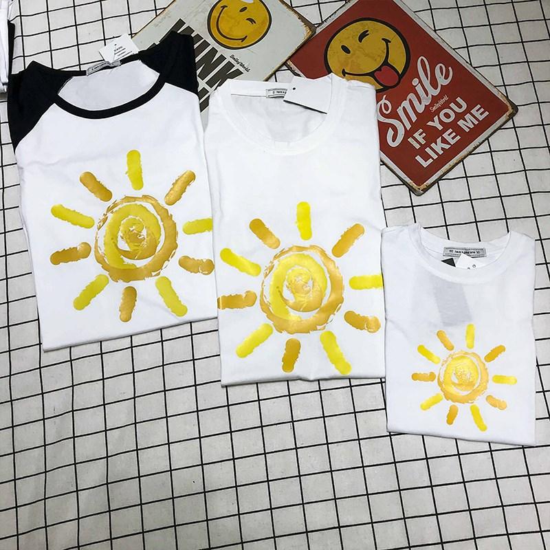 2019洋气夏装短袖T恤一家三口四口新款不一样的亲子装潮母女装