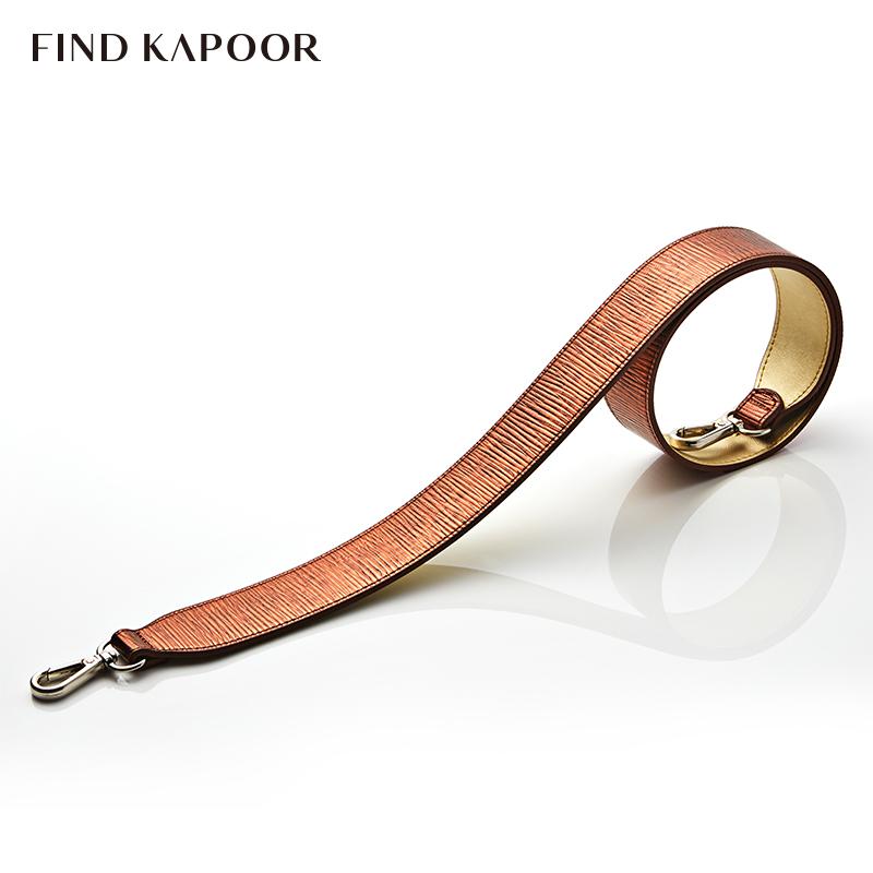 FIND KAPOOR梵德卡普尔时尚女包单肩斜挎女士水桶包FKR肩带红棕金
