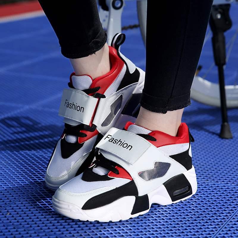 乔丹大码女鞋41-43学生时尚网面老爹运动鞋春季新款情侣气垫跑步
