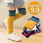 宝宝过膝公主长筒袜子儿童夏季半截堆堆袜 女童中筒袜纯棉春秋薄款图片
