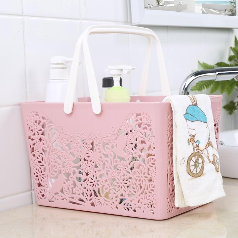 洗浴筐洗澡用品收纳篮篮子其他收纳篮新款手提放洗漱用品的韩国