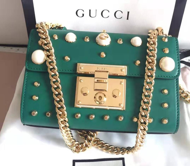 古驰/GUCCI 牛皮珍珠包包 金属扣保护膜 Gucci padlock 五金贴膜