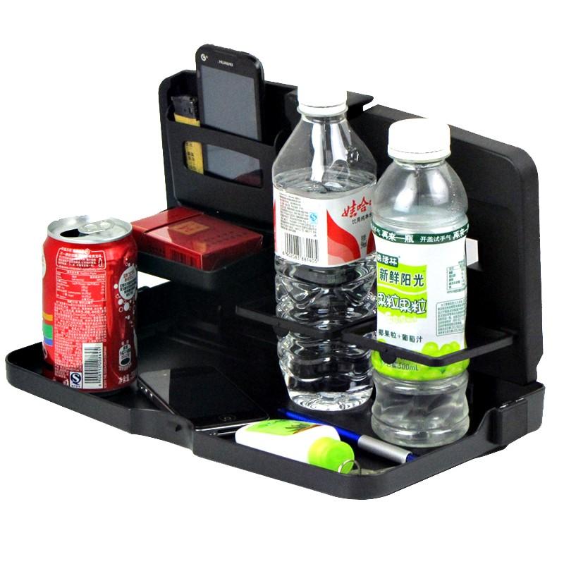 舜威车载餐盘餐桌汽车用餐桌儿童椅背餐盘后座折叠多功能置物杯架
