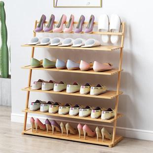 鞋架多层简易省空间防尘家用经济型组装门口小鞋柜实木置物架宿舍