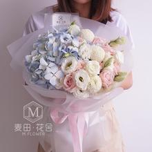 广州鲜花同城配送速递玫瑰混搭花束过生日送女朋友闺蜜送老师花束