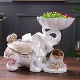 European elephant coffee table decoration storage tissue box living room tray tray table tray creative dried fruit tray home