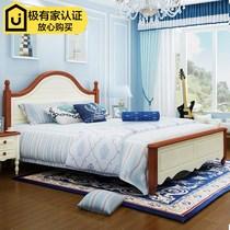 地中海床田园风格实木床韩式儿童家具美式1.5米公主床1.8米双人床