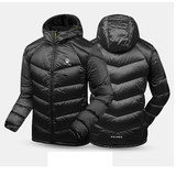 KELME Karl May Winter Casual Down Jacket Men's Lightweight Warm Sports Jacket Hooded Long Top