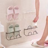 架卫生间防潮防湿墙壁挂式家用鞋 双层免打孔创意拖鞋 单层