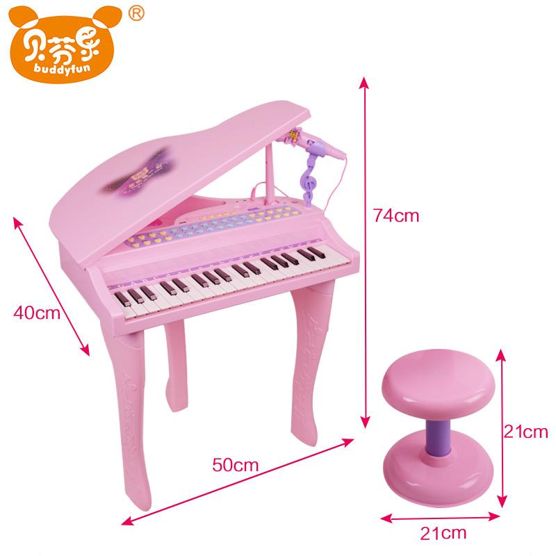 小猪佩奇儿童电子琴初学女孩3-6礼物幼儿贝芬乐宝宝2佩琪钢琴玩具