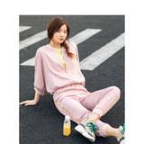 Inman suit women's spring wear baseball collar casual jacket loose-fitting leggings sweatpants stylish two-piece set
