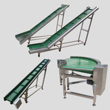 Conveyor line conveyor belt conveyor belt climbing small electric aluminum alloy belt express logistics sorting line