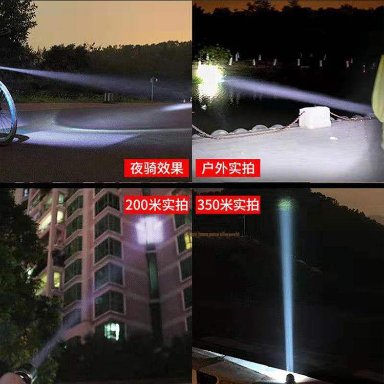 手电筒聚强光防身小型可充电多功能家用迷你自行车防爆户外儿童
