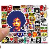52 Rock ROCK Band Stickers Graffiti Waterproof Skateboard Stickers Personal Luggage Computer Stickers
