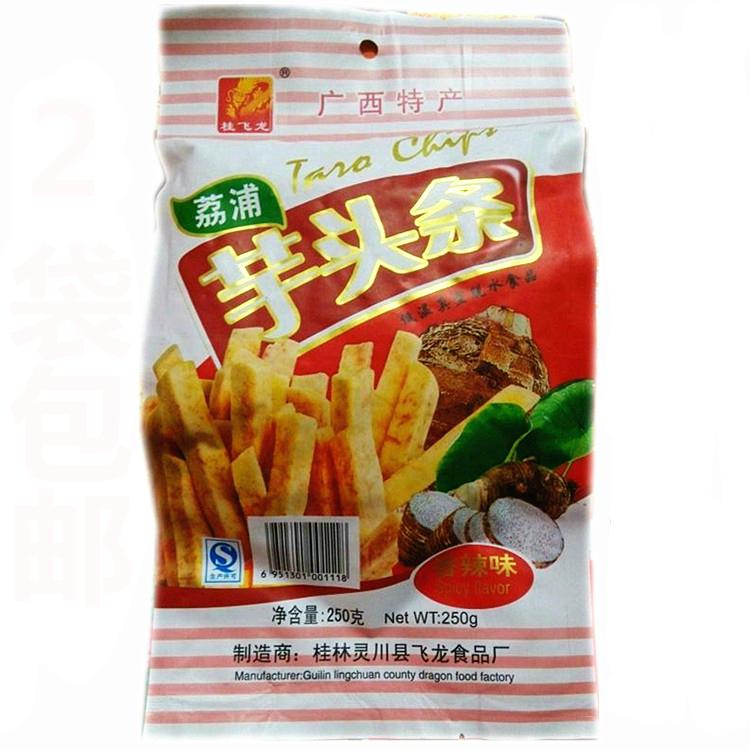 广西桂林特产250g葱香味荔浦芋头条干低温真空脱水食品零食小吃。