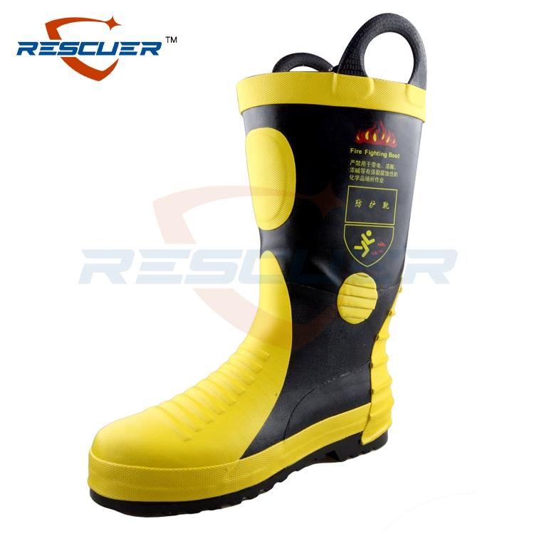 02款消防训练靴 作训靴夏季单款冬季棉款  战斗靴 非灭火用防护