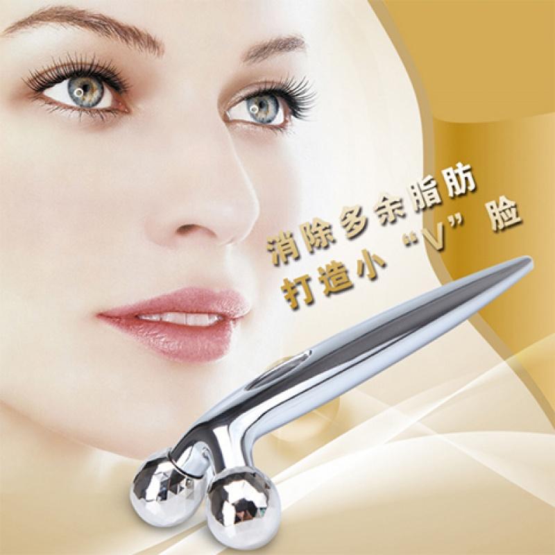 新款神器日本器按摩滚轮工具脸部按摩器面部双下巴美容棒
