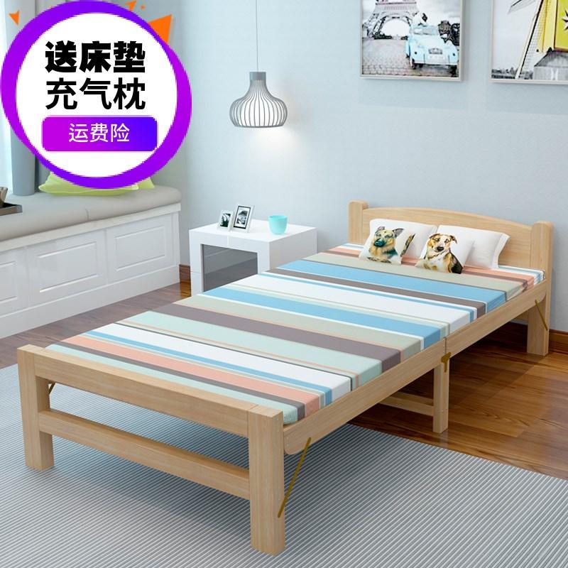免安装午休床木制简易木酒店易折叠实木折叠床单人硬板床客厅午休