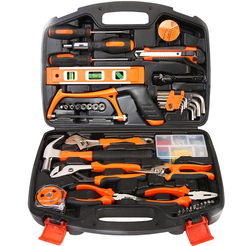 家用工具套装 多功能五金工具箱 电工木工维修手动工具组合组套