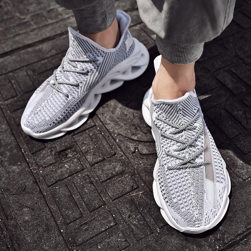 特大码45男鞋夏季透气网鞋男士运动休闲鞋加肥46码百搭跑步潮鞋子