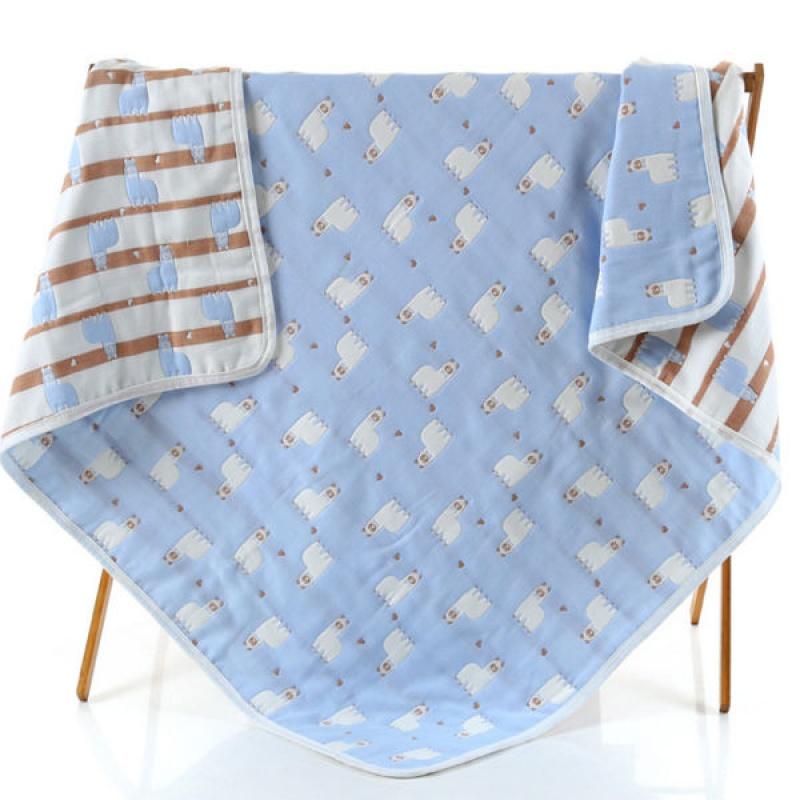 婴童盖被六层纯棉纱布宝宝浴巾幼儿园儿童毛巾被全棉童被盖毯床单
