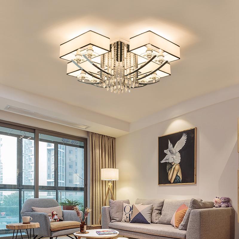 新款卧室后现代水晶吊灯创意中国风风格餐厅浪漫时尚装饰日式