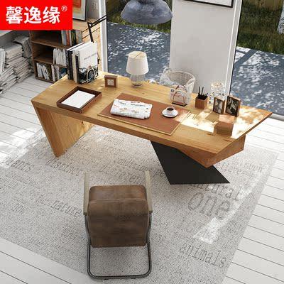实木实木办公桌