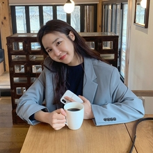 Spring and Autumn 2009 New Korean Edition Mid-long relaxed recreational temperament retro harbor style small suit jacket woman