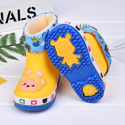 儿童雨靴宝宝雨鞋男女童水鞋防滑加绒可爱轻便水靴小孩四季通用