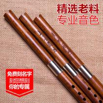 素面不刻字专业乐器调GF萧接铜短箫上选木料品致精制檀木洞箫