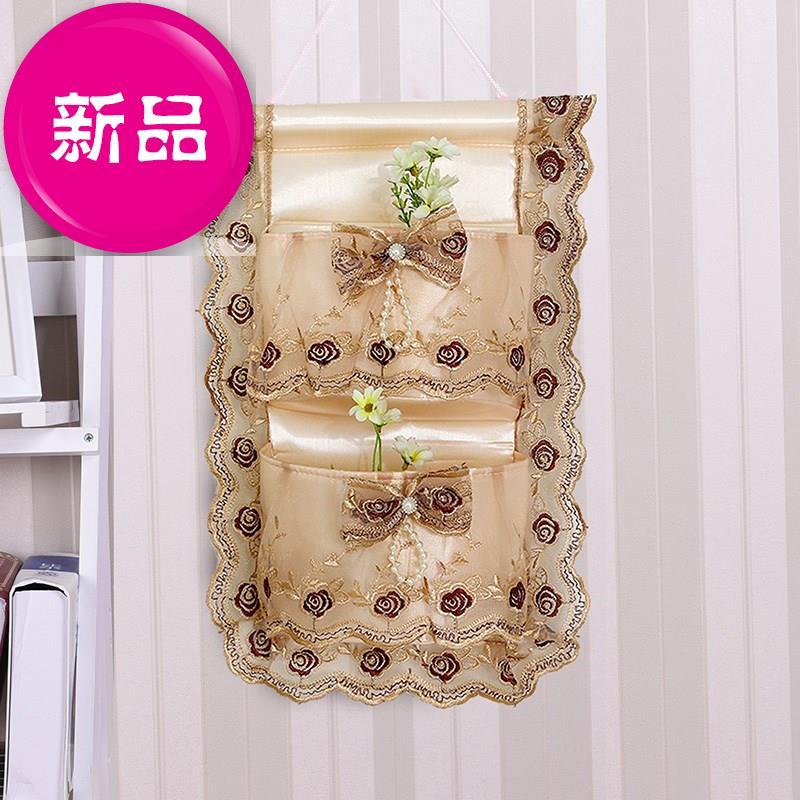 布艺置物2置物架袋挂钩布代子布袋门挂式置物兜厕所里的卫生间壁