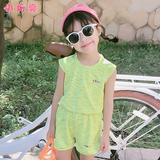 Yoga clothing girls dance sports fitness summer short-sleeved body speed dry clothes less children practice badminton clothing suit
