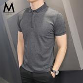 男修身 t恤青年潮流春夏季韩版 半袖 POLO衫 短袖 翻领体恤保罗衫 男士