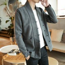 复古外套男中国风男装秋季新品改良汉服夹克男宽松唐装居士服