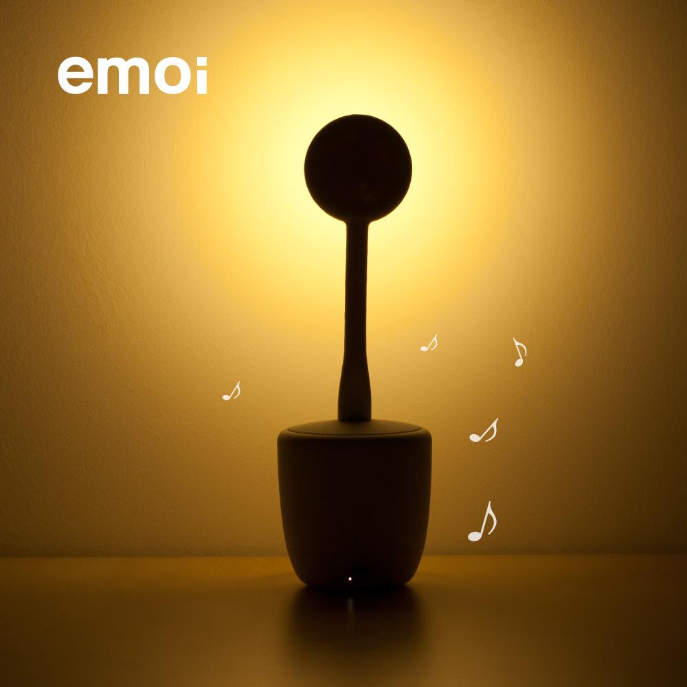 床头喂奶灯智能树苗音响无线蓝牙 led 基本生活花朵智能音响灯 emoi