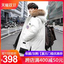 加拿大风羽绒服男士短款2018新款韩版加厚工装情侣大鹅冬季外套潮图片