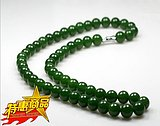 Xinjiang Hetian Jade Ball Necklace Kunlun Jade Necklace Ball Jade Necklace Spinach Green 10mm for men and women