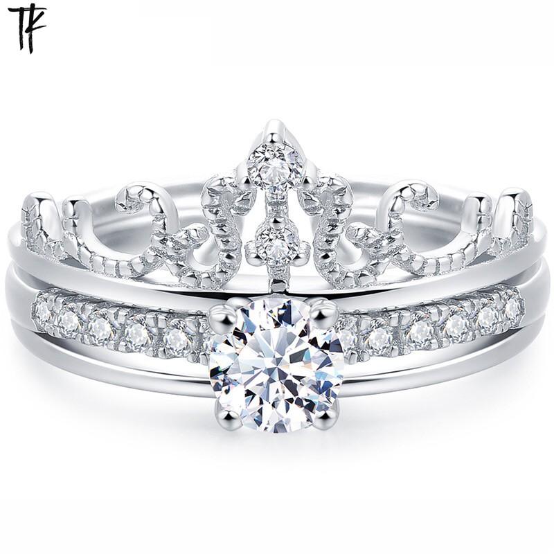 皇冠款戒指925银