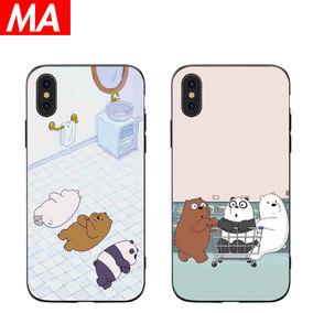 MA 动漫胖熊iPhonexr手机壳苹果8/8plus可爱创意卡通x硅胶xs保护套xsmax软壳